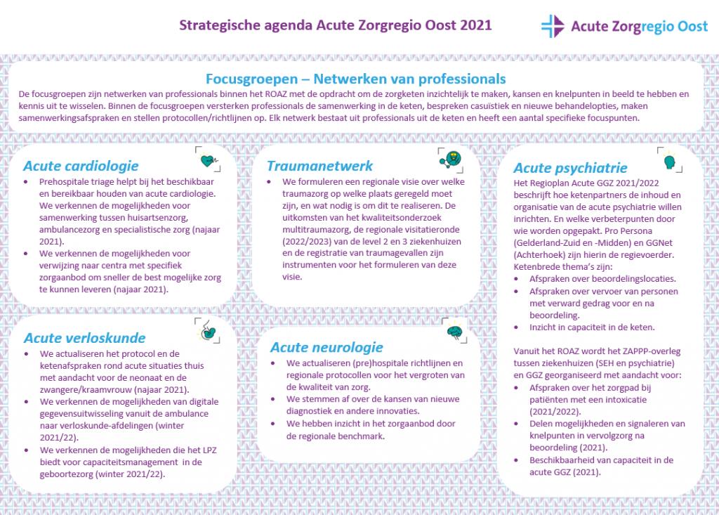 Afbeelding van Strategische agenda ROAZ Acute Zorgregio Oost